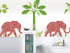 Elephant Group Wall Decals