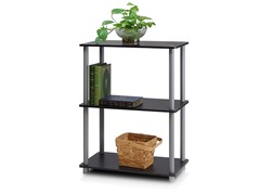 3-Tier Tube Storage Shelf Grey