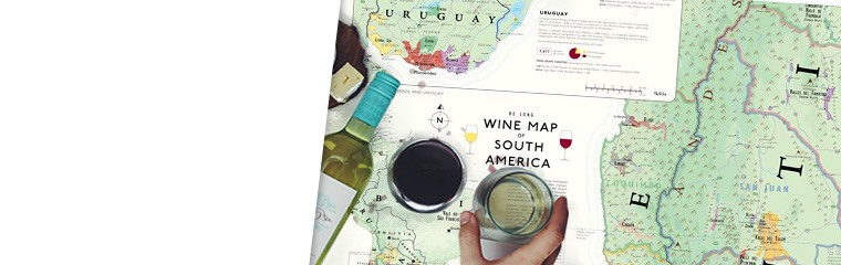 De Long Wine Map of South America