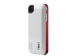 iPhone 4/4s Battery Case - White/Red