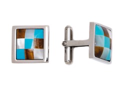 Stainless Steel Domed Cufflink