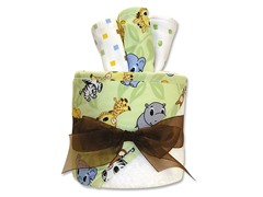 Chibi Zoo 4-Pc Hooded Towel Gift Cake