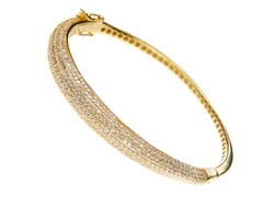 18kt Gold Plated SS Fancy Micropave Simulated Diamond Bracelet