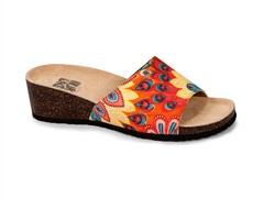 Lea Slide Wedge Sandal, Orange Peacock