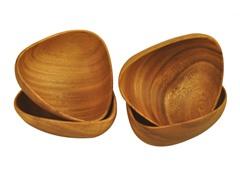 """Acacia 6"""" Bermuda Bowls 4-Piece Set"""