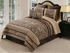 Laken Zebra 8pc Set-Brown-2 Sizes