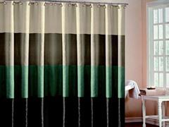 Hampton Hotel Block Shower Curtain-4 Colors