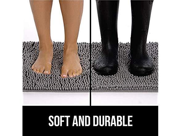 Large Gorilla Grip Original Indoor Durable Chenille Doormat 36X24 Absorbent,