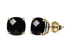 10K YG Stud Earrings, Onyx