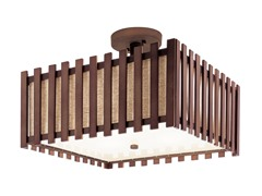 4 Light Square Semi Flush-mount