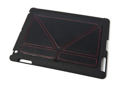 Slim Shell for iPad 3/4 - Black/Red