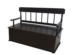 Classic Espresso Bench Seat with Storage
