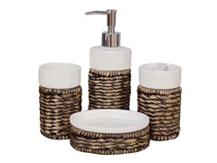 4-Piece Counter Accessory Set-Chocolate