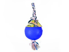 Durable Romp Roll Dog Pet Ball Toy: Royal Blue- Multiple Sizes