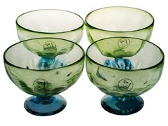 Amici Luster Green Dessert Bowl Set of 4