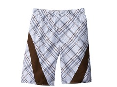 Swim Short - Plaid Brown (Sizes 7-16)