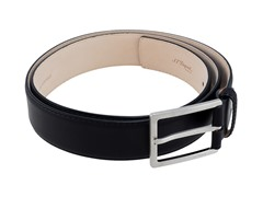 "ST Dupont ""Patiné"" Calfskin Leather Belt, Black"