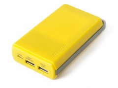 Powa 10,000 mAh Mobile Power Bank -Yellow
