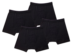 Kings Underwear Boxer Briefs 4-Pack, Black