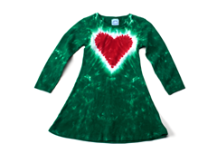 Girls Long Sleeve Dress - Heart