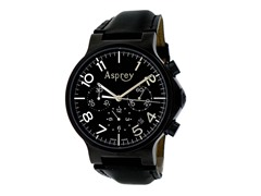 No 8 Round Chronograph Black Dial Watch