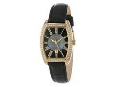 Lucien Piccard Women's Crystal Set Square Watch, Gold