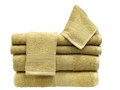 6Pc Towel Set-Suede