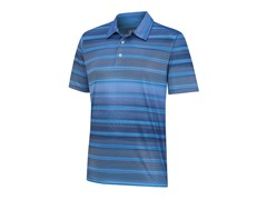 ClimaCool Gradient Stripe Polo - Oasis/Blueberry