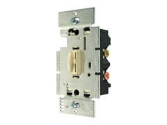 3-Way Qoto Dimmer and Switch, Ivory