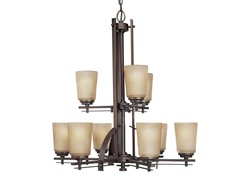 9-Light Riverside Chandelier, Heirloom