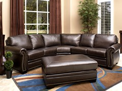 Santa Monica Leather Sectional & Ottoman