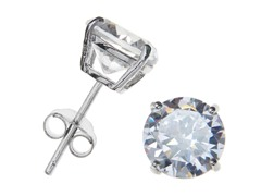 Sterling Silver 8mm Round CZ Studs