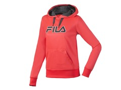 Fila Women's Fleece Hoody, Pink/Grey(XS)