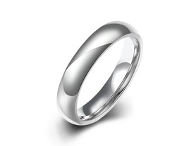 Men's Stainless Steel Solid Band- Pick Size