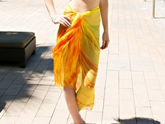 Tie-Dye Sheer Sarong Yellow & Orange