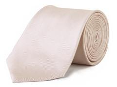 100% Silk Men's Tie, Peach Mini Squares