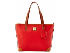 Pebble Grain Charleston Shopper, Red