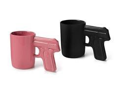 AGS Brands Black & Pink Gun Mug - 2pk
