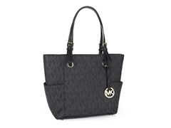 Michael Kors MK Logo East/West Tote, Black