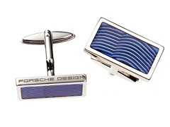 Sterling Silver Square Cufflinks, Blue