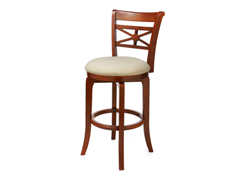 "Kingstown 30"" Cherry Barstool - Fabric"