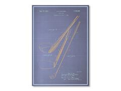 "Blueprints Golf Club Poster 18"" x 24"""
