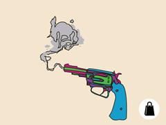 This Here's My Unicorn-Huntin' Gun Tote