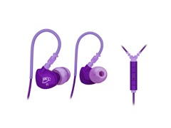 M6P In-Ear Sport Earbuds w/Mic - Purple