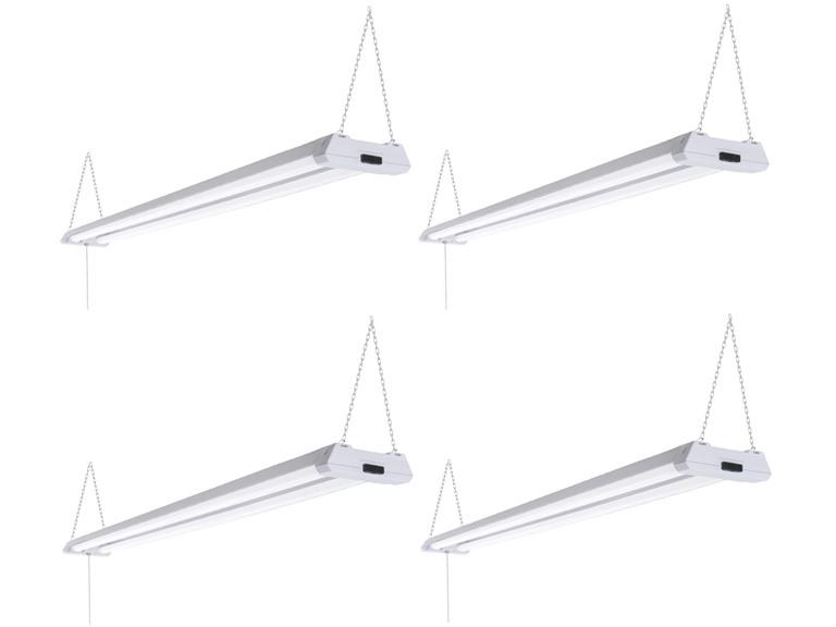 TriGlow LED Linkable Shop Lights, 4-Pack