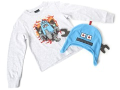 Boys Robot Hat & Tee