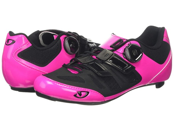 Giro Raes Techlace Bright Pink//Black Womens Road Bike Shoes Size 41.5
