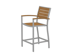Euro Counter Chair, Silver/Plastique