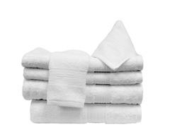 6Pc Towel Set-White