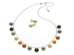 Multicolor Necklace & Earring Set